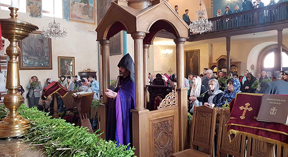 Palm Sunday in the Armenian Diocese in Georgia